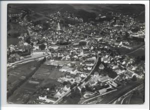 ZZ-0376/ Pfaffenhofen seltenes Foto Luftbild 1939 18 x 13cm