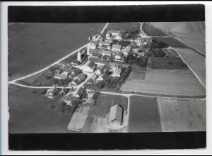 ZZ-0383/ Unterdolling b. Oberdolling seltenes Foto Luftbild 1938 18 x 13 cm
