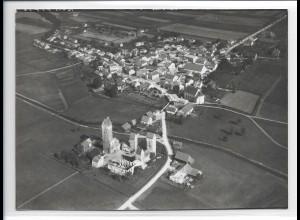 ZZ-0386/ Nassenfels b. Eichstätt seltenes Foto Luftbild 1938 18 x 13 cm