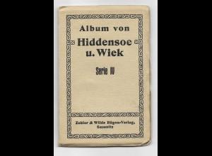 Y15721/ Hiddensee und Wiek Leporello mit 10 Ansichtskarten AK ca.1925