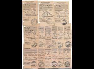 Y15727/ 15 x Posteinlieferungschein ROSTOCK 1915