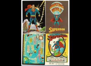 DP435/ 4 x AK SUPERMAN 1966/1972 Comic