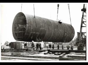 C3719/ Hamburg Hafen Schiffsbau Kran Foto 1972 22,5 x 15 cm