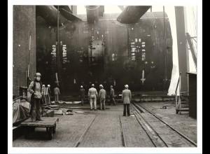 C3711/ Hamburg Hafen Werft Schiffsbau Foto ca.1975 23 x 17,5 cm