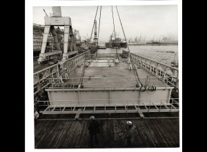 C3710/ Hamburg Hafen Werft Schiffsbau Foto 1976 17,5 x 17 cm