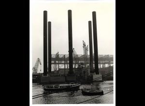 C3709/ Hamburg Hafen Werft Foto 1976 25,5 x 20,5 cm