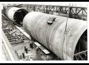 C3703/ Hamburg Hafen Werft Schiffsbau Foto 1972 23 x 15,5 cm