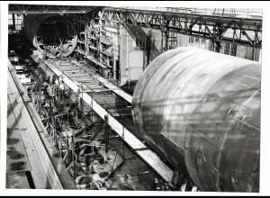 C3702/ Hamburg Hafen Werft Schiffsbau Foto 1972 22,5 x 16,5 cm