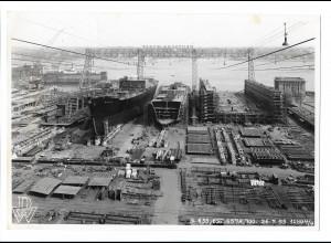 C3681/ Hamburg Hafen Deutsche Werft Schiffsbau Foto ca.1965 23 x 16 cm.