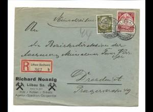 C3862/ R-Brief Löbau (Sachsen) Richard Nonnig Holz, Kohlen, Briketts 1935