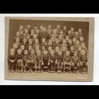 Y15037/ Foto Schulklasse Jungen 13,5 x 9,8 cm ca.1900