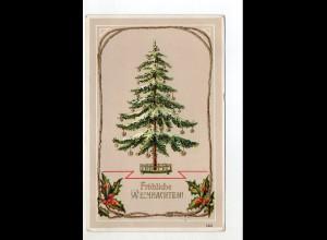 Y15020/ Weihnachten Tannenbaum Litho Glanz AK 1910