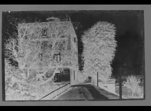 Neg5357/ Geesthacht Cafe Elbblick altes Negativ 50er Jahre