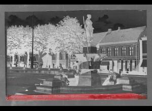 Neg5338/ Husum Brunnen altes Negativ 40/50er Jahre