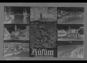 Neg5336/ Husum Hafen altes Negativ 50er Jahre