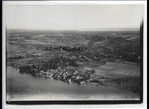 ZZ-0562/ Gottlieben bei Konstanz seltenes Foto Luftbild ca.1938 18 x 13 cm