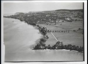 ZZ-0560/ Dingelsdorf bei Konstanz seltenes Foto Luftbild 1938 18 x 13 cm