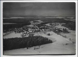 ZZ-0559/ Königsfeld Schwarzwald seltenes Foto Luftbild 1935 18 x 13 cm