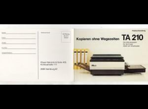 Y15334/ Werbung Reklame AK Kopierer TA 210