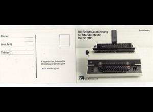 Y15333/ Werbung Reklame AK Schreibmaschine SE 1011
