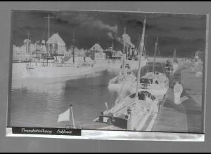 Neg5413/ Brunsbüttelkoog Schiffe in der Schleuse altes Negativ 40er Jahre