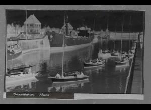 Neg5414/ Brunsbüttelkoog Schiffe in der Schleuse altes Negativ 40er Jahre