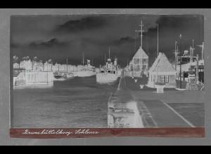 Neg5415/ Brunsbüttelkoog Schiffe in der Schleuse altes Negativ 40er Jahre