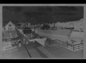 Neg5416/ Brunsbüttelkoog Schiffe in der Schleuse altes Negativ 40/50er Jahre