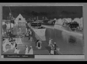 Neg5412/ Brunsbüttelkoog Alter Hafen altes Negativ 40er Jahre