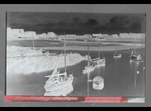 Neg5411/ Brunsbüttelkoog Alter Hafen altes Negativ 40er Jahre