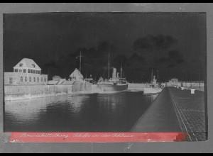 Neg5410/ Brunsbüttelkoog Schiffe in der Schleuse altes Negativ 40er Jahre