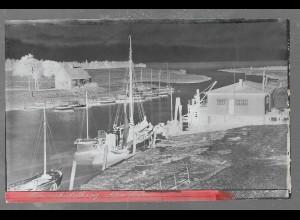 Neg5406/ Brunsbüttelkoog Alter Hafen altes Negativ 40er Jahre