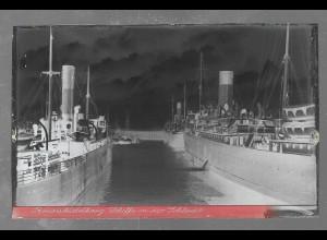 Neg5405/ Brunsbüttelkoog Schleuse Schiffe altes Negativ 40er Jahre