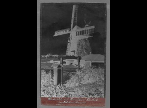 Neg5403/ Nebel Amrum Windmühle altes Negativ 40er Jahre