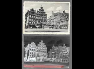 Neg5393/ Lüneburg AK und altes Negativ ca.1940