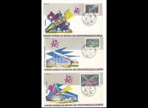 Y16279/ 6 x FDC Ersttagsbrief Brüssel Weltausstellung 1958 Exposition Bruxelles