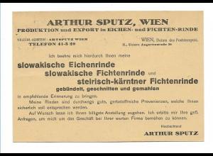 Y16253/ Arthur Sputz, Wien Eichen- u. Fichtenrinde Werbe AK 1927