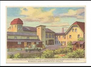 V140-027/ Oppach Großeinkaufsgesellschaft dt. Consumvereien AK ca.1930