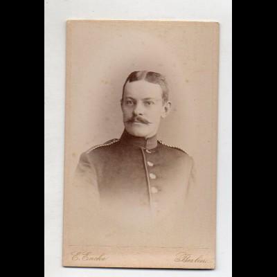 Y15033/ CDV Foto Soldat Militär Foto E. Encke, Berlin 1889