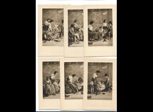 Y16257/ 6er Serie Le petit Docteur kleiner Doktor Kinder schöne Serie ca.1910