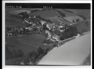ZZ-0578/ Jettenbach bei Mühldorf seltenes Foto Luftbild 1938 18 x 13 cm