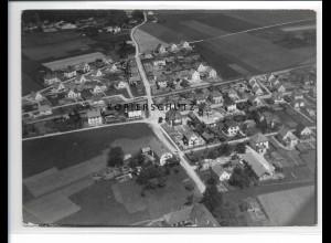 ZZ-0581/ Burghausen seltenes Foto Luftbild 1938 18 x 13 cm