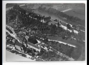 ZZ-0582/ Burghausen seltenes Foto Luftbild 1938 18 x 13 cm