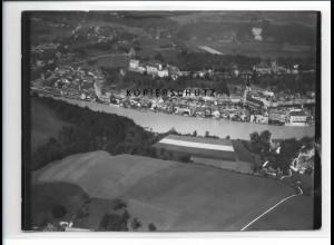ZZ-0585/ Burghausen seltenes Foto Luftbild 1938 18 x 13 cm
