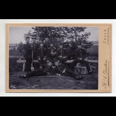 Y15036/ Kabinettfoto Soldaten Militär Reserveübung in Munster 1893