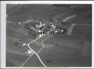 ZZ-0593/ Hofkirchen Niederbayern seltenes Foto Luftbild 1938 18 x 13 cm