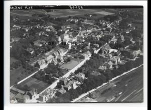 ZZ-0596/ Simbach am Inn seltenes Foto Luftbild 1938 18 x 13 cm
