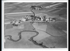 ZZ-1544/ Frauenhaarbach b. Vilsbiburg Foto seltenes Luftbild 1938 18 x 13 cm