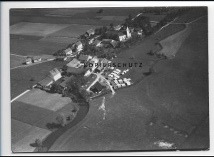 ZZ-1541/ Gaindorf b. Vilsbiburg Foto seltenes Luftbild 1938 18 x 13 cm