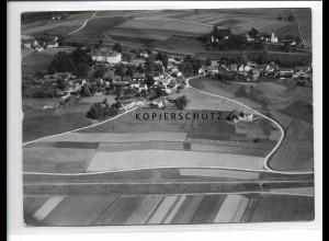 ZZ-1532/ Poxau Foto seltenes Luftbild 1938 18 x 13 cm